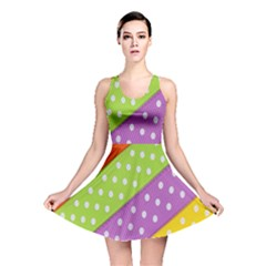 Colorful Easter Ribbon Background Reversible Skater Dress by Simbadda