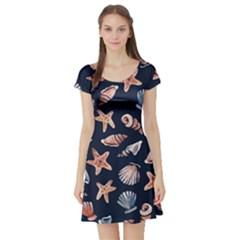 Shells Short Sleeve Skater Dress by BubbSnugg