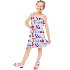 Wallpaper With The Words Thank You In Colorful Letters Kids  Tunic Dress by Simbadda