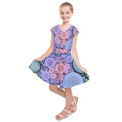An Abstract Background Consisting Of Pastel Colored Circle Kids  Short Sleeve Dress by Simbadda
