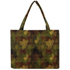 Textured Camo Mini Tote Bag