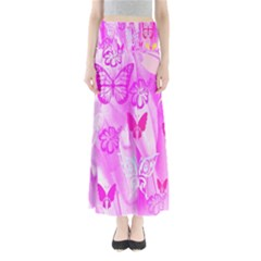 Butterfly Cut Out Pattern Colorful Colors Maxi Skirts