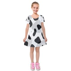 Abstract Venture Kids  Short Sleeve Velvet Dress by Simbadda