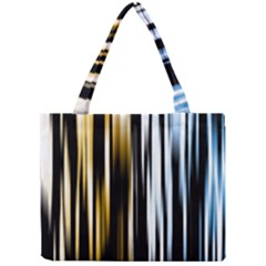 Digitally Created Striped Abstract Background Texture Mini Tote Bag