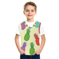 Colorful Pineapples Wallpaper Background Kids  Sportswear