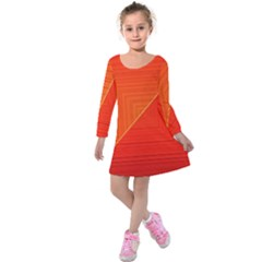 Abstract Clutter Baffled Field Kids  Long Sleeve Velvet Dress by Simbadda