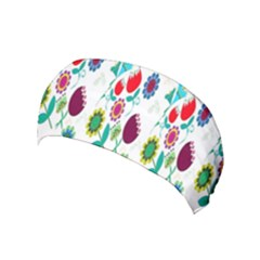 Lindas Flores Colorful Flower Pattern Yoga Headband