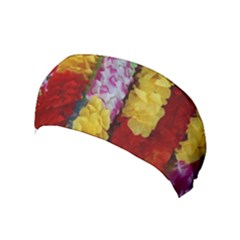 Colorful Hawaiian Lei Flowers Yoga Headband