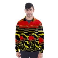 Abstract Clutter Wind Breaker (men) by Simbadda