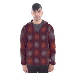 Abstract Dotted Pattern Elegant Background Hooded Wind Breaker (men) by Simbadda