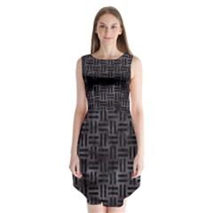 Woven1 Black Marble & Black Watercolor (r) Sleeveless Chiffon Dress   by trendistuff