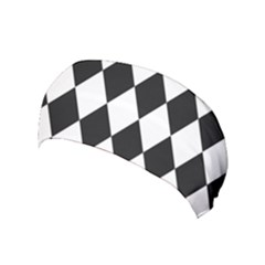 Broken Chevron Wave Black White Yoga Headband