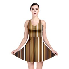 Brown Line Image Picture Reversible Skater Dress by Mariart