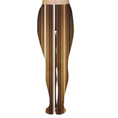 Brown Line Image Picture Women s Tights by Mariart