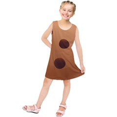 Cookie Chocolate Biscuit Brown Kids  Tunic Dress by Mariart