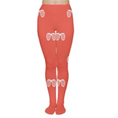 Glasses Disco Retina Red White Line Women s Tights by Mariart