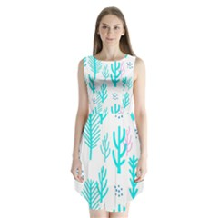 Forest Drop Blue Pink Polka Circle Sleeveless Chiffon Dress   by Mariart