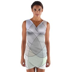 Four Way Venn Diagram Circle Wrap Front Bodycon Dress