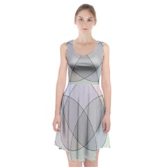 Four Way Venn Diagram Circle Racerback Midi Dress by Mariart
