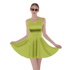 Polka Dot Green Yellow Skater Dress by Mariart