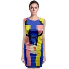 Shake Hands Classic Sleeveless Midi Dress by Mariart
