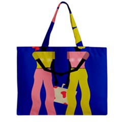 Shake Hands Medium Zipper Tote Bag
