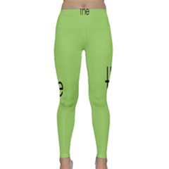 Sign Green The Classic Yoga Leggings by Mariart