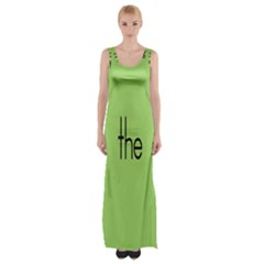 Sign Green The Maxi Thigh Split Dress by Mariart