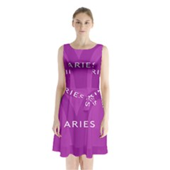 Zodiac Aries Sleeveless Chiffon Waist Tie Dress by Mariart
