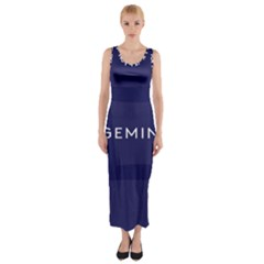 Zodiac Gemini Fitted Maxi Dress by Mariart
