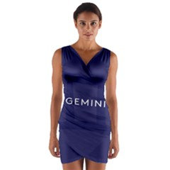 Zodiac Gemini Wrap Front Bodycon Dress by Mariart