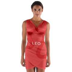 Zodiac Leo Wrap Front Bodycon Dress