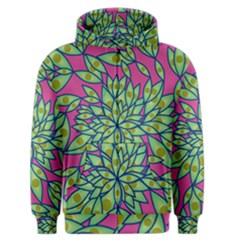 Big Growth Abstract Floral Texture Men s Zipper Hoodie by Simbadda
