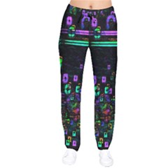 Digital Painting Colorful Colors Light Drawstring Pants