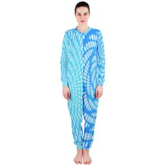 Abstract Pattern Neon Glow Background Onepiece Jumpsuit (ladies)  by Simbadda