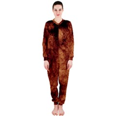 Abstract Brown Smoke Onepiece Jumpsuit (ladies)  by Simbadda