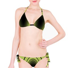 Spiral Tunnel Abstract Background Pattern Bikini Set