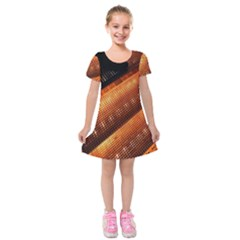 Magic Steps Stair With Light In The Dark Kids  Short Sleeve Velvet Dress by Nexatart