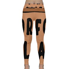 For Sale Sign Black Brown Classic Yoga Leggings by Mariart