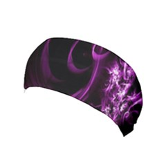 Purple Flower Floral Yoga Headband