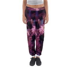 Grunge Purple Abstract Texture Women s Jogger Sweatpants by Nexatart
