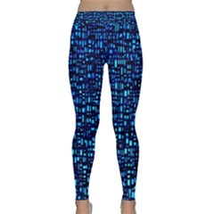Blue Box Background Pattern Classic Yoga Leggings by Nexatart