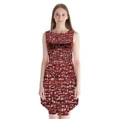 Red Box Background Pattern Sleeveless Chiffon Dress   by Nexatart