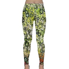 Chaos Background Other Abstract And Chaotic Patterns Classic Yoga Leggings by Nexatart