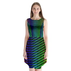 Digitally Created Halftone Dots Abstract Background Design Sleeveless Chiffon Dress   by Nexatart