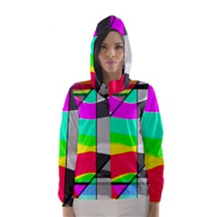 Colors Fadeout Paintwork Abstract Hooded Wind Breaker (women)