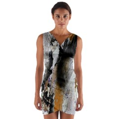 Abstract Graffiti Background Wrap Front Bodycon Dress by Nexatart