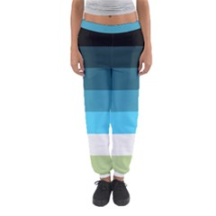 Line Color Black Green Blue White Women s Jogger Sweatpants by Jojostore