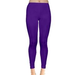 Plain Violet Purple Leggings