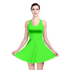 Plain Green Reversible Skater Dress